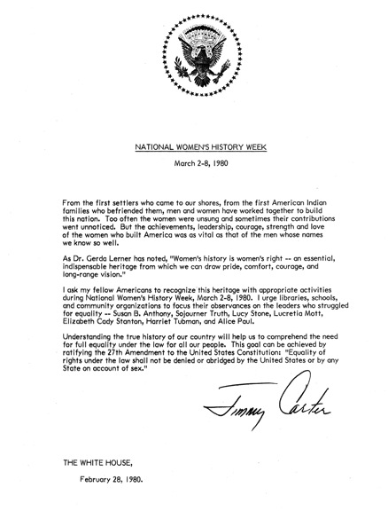 jimmy carter's letter