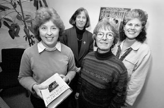 Putting life in perspective: National Women's History Project cofounders Molly Murphy MacGregor, left, Paula Hammet, Mary Ruthsdotter, and Maria Cuevas